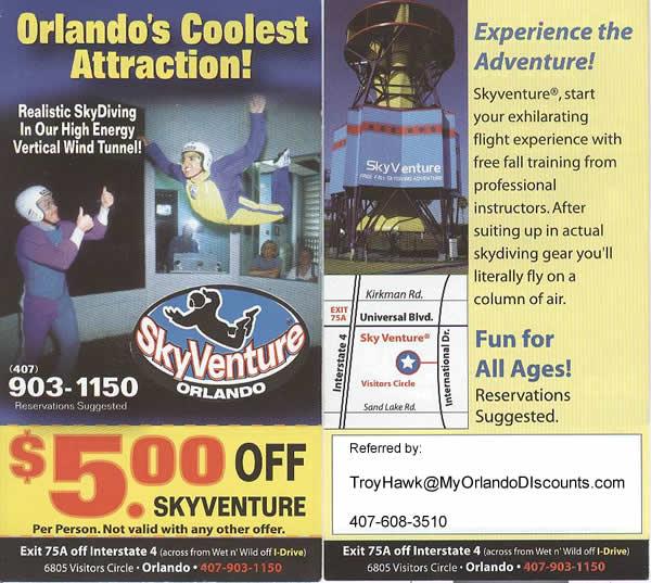 Coupon For Orlando Skyventure Skydiving