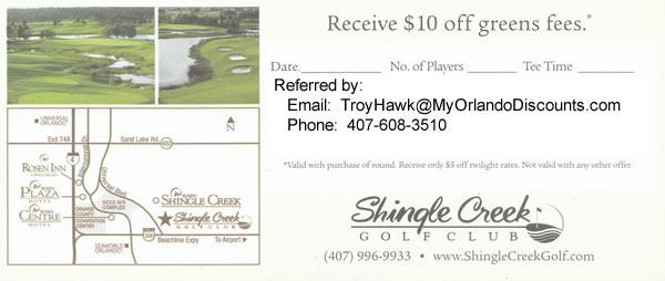 Coupon For ShingleCreek Golf in Orlando
